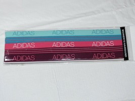 adidas Womens 5pk Creator Hairband Aqua Blue Pink Red Night One Size No ... - $14.06