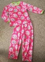 THE CHILDREN'S PLACE Pink Snowman Penguin Print Fleece Pajamas Girls Siz... - $4.88