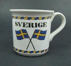 Sverige by Hoganas Keramik Stoneware Coffee Mug - Made in Sweden - $15.84