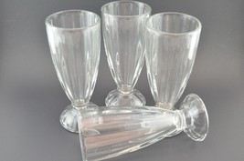 Vintage Sundae Glasses Set of 4 Clear Dessert Tall - $24.95