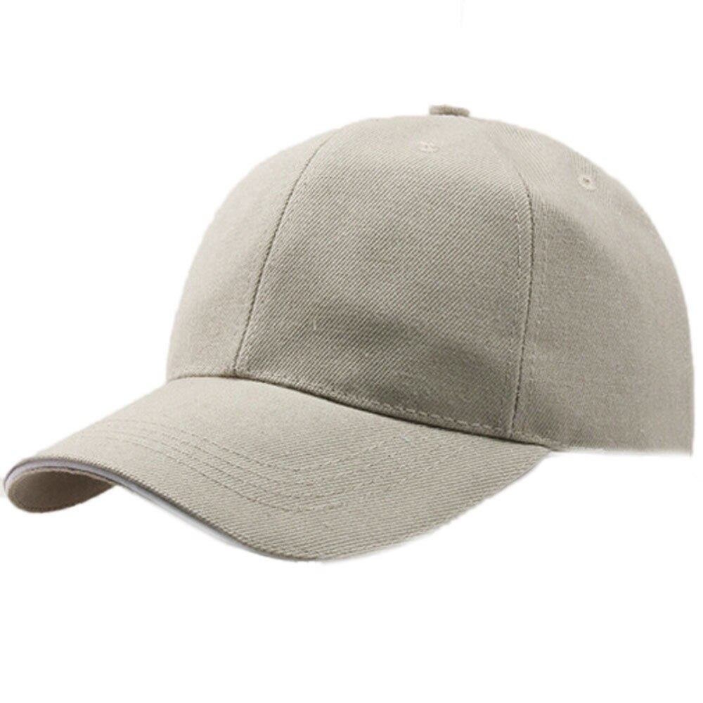 Primary image for  Men Women Baseball Plain Curved Sun Visor Cap Solid Color Fashion Adjustable Ha
