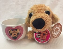 """Valentine Coffee Cup 4"""" Wide Mouth with Plush """"The Dog"""" Artlist Collection - $5.99"""