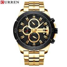 CURREN Business Men Watch Luxury Brand Stainless Steel Wrist Watch Chronograph A - $40.01