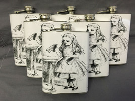 Set of 6 Alice D 6 Flasks 8oz Stainless Steel Hip Drinking Whiskey - $36.58
