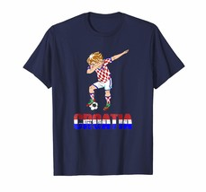 Dad Shirts - Dabbing Soccer Boy Croatia Shirt for Croatian Football Men - $19.95+