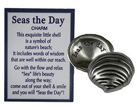 Ganz Seas the Day Shell Inspirational Message Pocket Charm with Story Ca... - $2.96