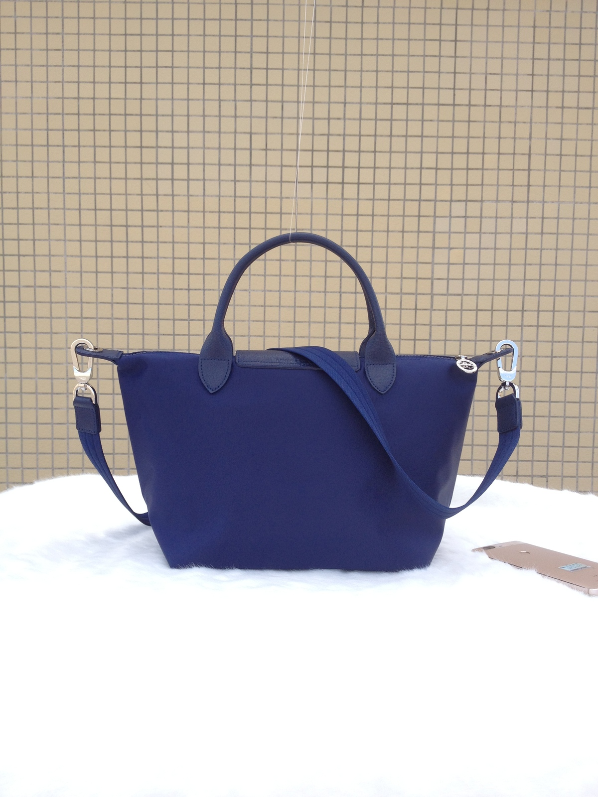 Longchamp Le Pliage Medium Navy Blue Handbag Neo Shoulder Strap 1512578556