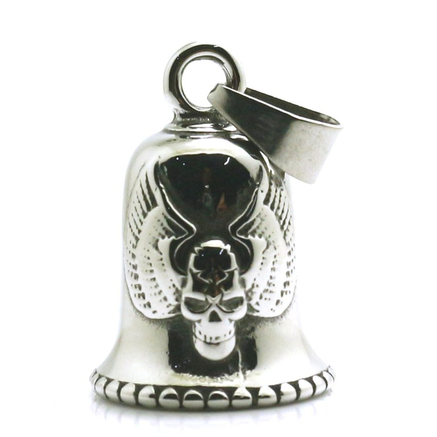Primary image for Men Boy 316L Stainless Steel Biker Eagle Wing Skull Bell Pendant