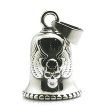 Men Boy 316L Stainless Steel Biker Eagle Wing Skull Bell Pendant - $12.94