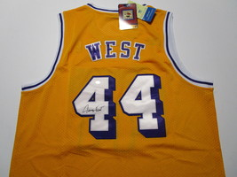 JERRY WEST / NBA HALL OF FAME / AUTOGRAPHED L.A. LAKERS THROWBACK JERSEY / COA image 1