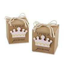 Kate Aspen Little Princess Kraft Favor Box, Brown/Pink - $16.65