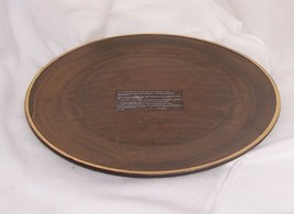 PartyLite Renaissance Candle Tray Rich Bronze Glaze Trimmed in 24K Gold ... - $17.77