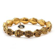 King Ice Antique Brass 14K Gold Plated Pharaoh Bracelet NWT