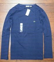 Lacoste TH6620 Herren Slim Fit Langärmlig Blau Gestreift Baumwoll T-Shir... - €45,39 EUR