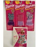 NEW Lot of four Vintage BARBIE Fashion Finds Clothing Card Summer Outfits - $27.71