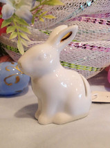 Threshold White Porcelain Gold Accent Easter Bunny Rabbit Place Card Hol... - $69.30
