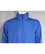 Nike me's rain jacket blue zipper front pockets lightweight long sleeve ... - $21.99