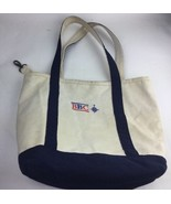 Lands End Small Canvas Tote Bag Made In USA Narural Monogrammed BBC - $18.69