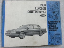 1988 Lincoln Continental Electrical Wiring Diagrams Service Manual OEM F... - $2.52