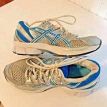 Asics Womens Sz 8.5 Blue White Athletic Shoes Running Gel Nimbus 12 1 GS - $18.00