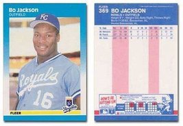 1987 Fleer Bo Jackson Rookie Baseball Card #369 - Shipped In Protective Display  - $2.29