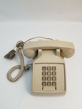 Vintage Stromberg Carlson Push Button Beige Telephone Phone - $39.19