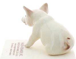 Hagen-Renaker Miniature Ceramic Pig Figurine White Mama Sitting image 2