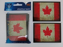 Max-Pro 100 Canada CANADIAN FLAG Shuffle-Tech Sleeves Iconic Flags Collection (f - $8.03