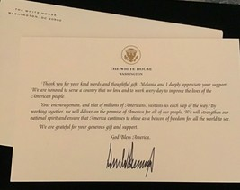 TRUMP WHITE HOUSE THANK YOU For GIFT CARD SIGNATURE DONALD GOLD EAGLE SE... - $43.54