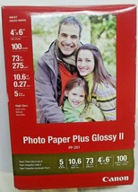 Canon PP-201 Photo Paper Plus Glossy II, 4x6 inch - 100 Sheets - $6.92