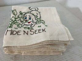 7 Handmade Embroidered Detailed Hand Towels About 29 by 26 Inches 7 Designs - $23.06