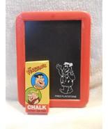 Flintstones Plastic Chalkboard with Box of Chalk - Fred Flintstone Barne... - $7.95