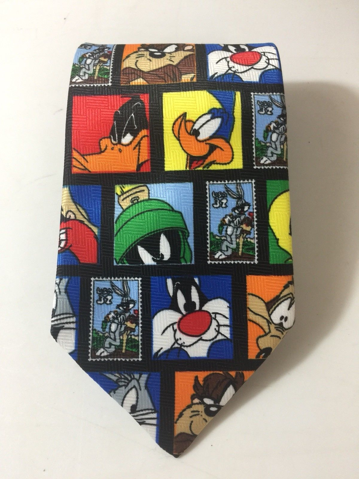 Primary image for Looney Tunes Necktie Stamp Collection USPS Tie Tweety Daffy Bugs