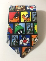 Looney Tunes Necktie Stamp Collection USPS Tie Tweety Daffy Bugs - $19.79