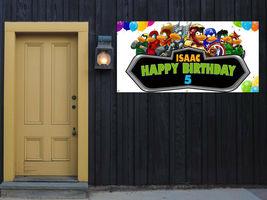 MarvelHappy Birthday Customizable Vinyl 13 OZ.  Banner 3x6' Party Add Name image 3