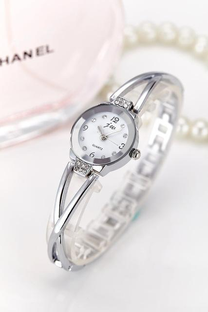 New Fashion Rhinestone Watches Women Luxury Brand Stainless Steel Bracelet watch image 8