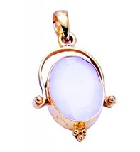 Fashion Gold Plated Agate Gemstone Pendant Jewelry FMU26JJP14 - $14.85