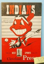 1950 Cleveland Indians Program v NY Yankees Unscored Dimaggio, Berra C70015 - $48.51