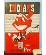 1950 Cleveland Indians Program v NY Yankees Unscored Dimaggio, Berra C70015 - $48.51
