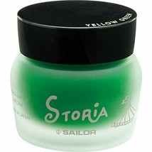 Sailor Pen fountain pen pigment bottle ink Storia 30ml yellow green 1315... - $32.62