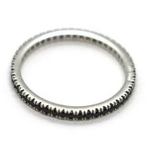 Ring Weißgold 750 18K, Eternity,4 Spitzen,2 mm,Zirkonia Kubische Schwarze image 2