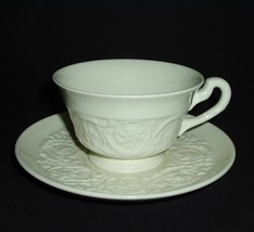 3 WEDGWOOD PATRICIAN OFF WHITE COFFEE CUP SAUCER SETS  PLAIN CREAM - $25.24