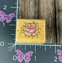 "Rubber Stampede Delicate Rose Rubber Stamp Flower Wooden  Mounted 1.25"" - $9.89"