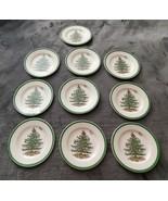 SPODE CHRISTMAS TREE 1938 SALAD / DESSERT PLATES S3324 - A7 - SET OF 10 - $100.00