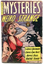 Mysteries Weird and Strange #8 1954- GGA cover- Pre code horror G/VG - $80.70