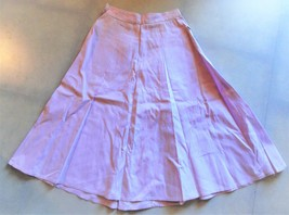 Vintage 1940's-50's Plaid Cotton Full Skirt Dusty Rose Size XSmall Back ... - $32.67