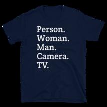 person woman man camera tv / person woman man camera tv T-Shirt image 9