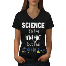 Science Is Real Magic Shirt Funny Women V-Neck T-shirt - $12.99+