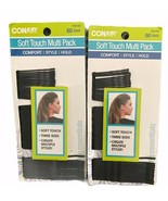 Lot of TWO Conair Soft Touch 3 Sizes Multi Pack Black 60 Count Bobby Pin... - $8.83