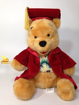 Disney Winnie The Pooh Bear Party Grad Graduation Plush Doll Toy Red Vel... - $39.99